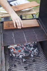 BBQ with planks